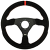 Max Papis Innovations MPI-F-13-A 13 Inch Suede Touring / Off Road / SXS / Drifting 6 Hole Steering Wheel