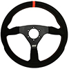 Max Papis Innovations MPI-F-14-A 14 Inch Suede Touring / Off Road / SXS / Drifting 6 Hole Steering Wheel