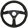 Max Papis Innovations MPI-F-14-HG-B 14 Inch Aluminum Touring / Off Road / SXS / Drifting 6 Hole Steering Wheel