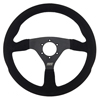 Max Papis Innovations MPI-F-14-SB 14 Inch Suede Touring / Off Road / SXS / Drifting 6 Hole Steering Wheel