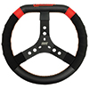Max Papis Innovations MPI-KD-14-A 14 Inch Aluminum Dirt Karting 3 Hole Steering Wheel