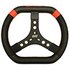 Max Papis Innovations MPI-KP-12-A 12 Inch Aluminum Karting Qt Midget Mini Outlaw Steering Wheel