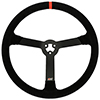 Max Papis Innovations MPI-LM-15 15 Inch Suede Orange Strip Stock Car Concept 3 Hole Steering Wheel