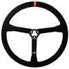 Max Papis Innovations MPI-MP-14-O Light Weight 14 Inch Orange Strip Steel Suede Steering Wheel 3 Hole with Centerpiece