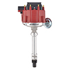 Proform 66941RC Hei Distributor - Racing Type With Vac-Adv - Red Cap - Polished - For Chevy V8 Engines