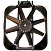 Proform 67015 Electric Radiator Fan - High Perf. Mustang Model With Thermostat - 15 In - 2800Cfm