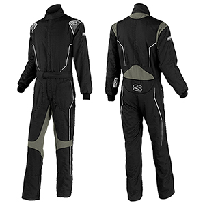 Simpson Helix Standard Racing Suit, Black/Gray, Size X-Large