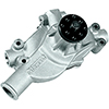 Stage 4 Small Block Chevy Short Water Pump, 5.795 inch Length, 3/4 inch Shaft, AN outlets and Additional Inlets