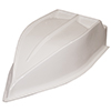 White BRP Hood Big Block Long Hood-Offers Clearance for Expansion Tank-Cut for Aluminum Base
