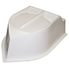 White BRP Hood Big Block Short Hood-Cut for Aluminum Base